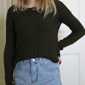 Forest Green American Eagle Sweater
